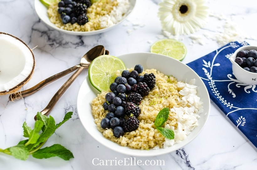 Coconut Lime Breakfast Quinoa for the 21 Day FIx