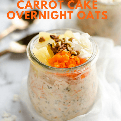 21 Day Fix Overnight Carrot Cake Oats