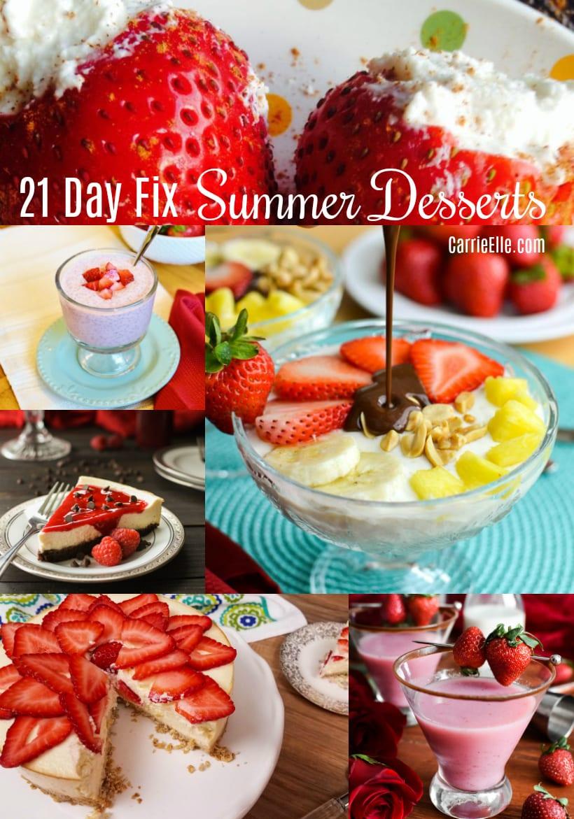 21 Day Fix Summer Desserts