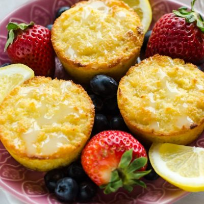 Gluten-Free Lemon Muffins (21 Day Fix, Keto)