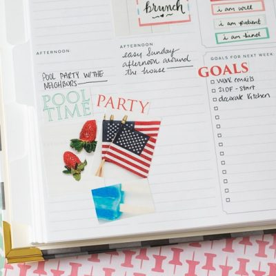 The Cutest 4th of July Planner Stickers