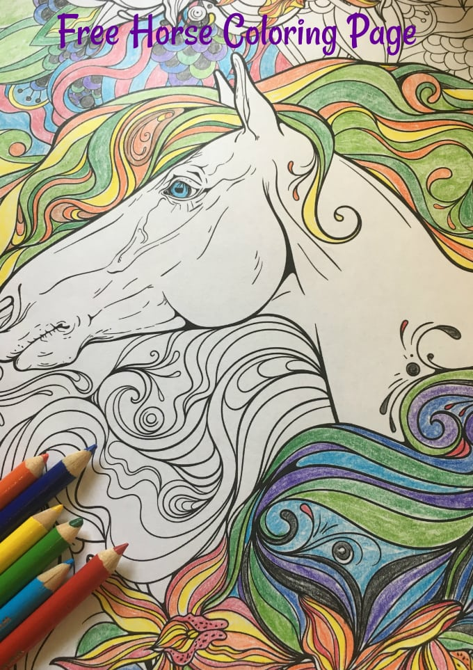 - Free Printable Coloring Page: Horse Coloring Page - Easy Crafts 101