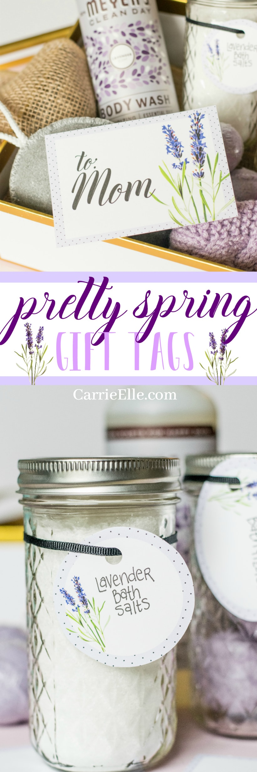 Pretty Printable Spring Gift Tags