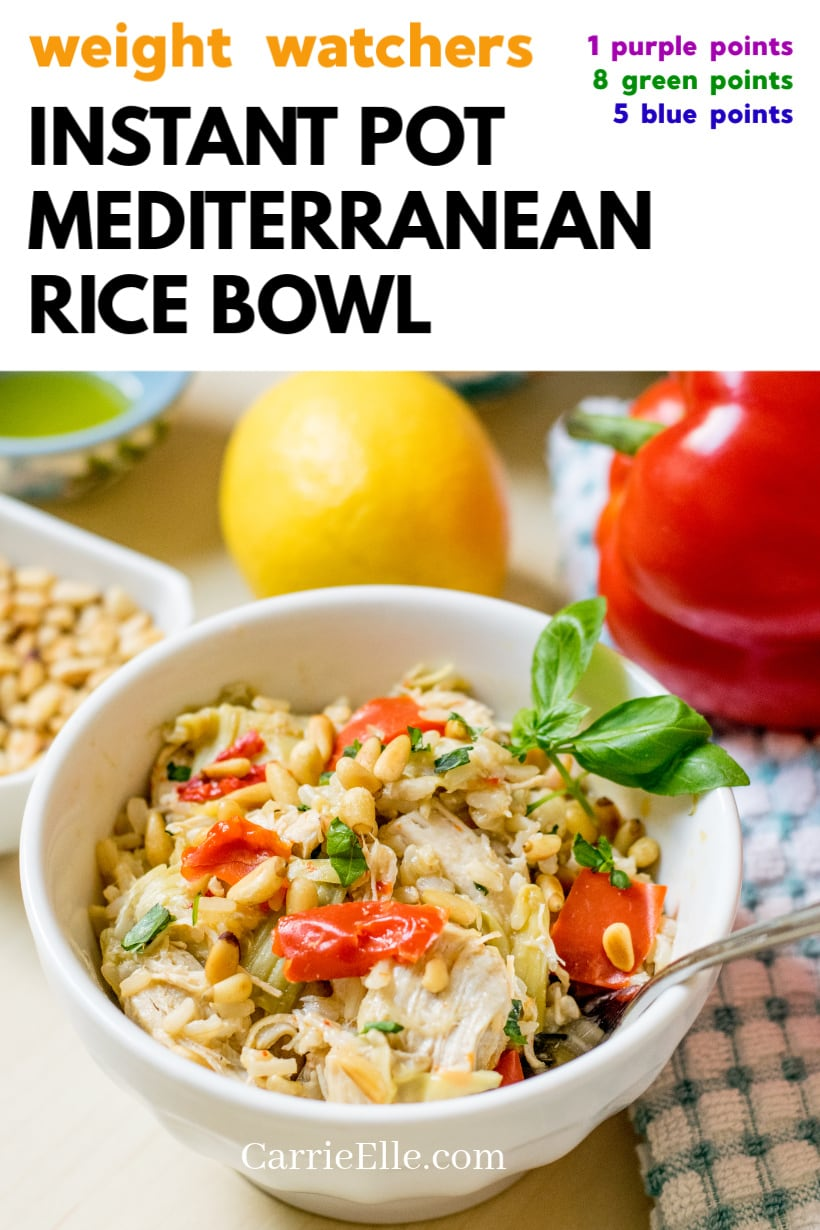 WW Instant Pot Mediterranean Rice Bowl