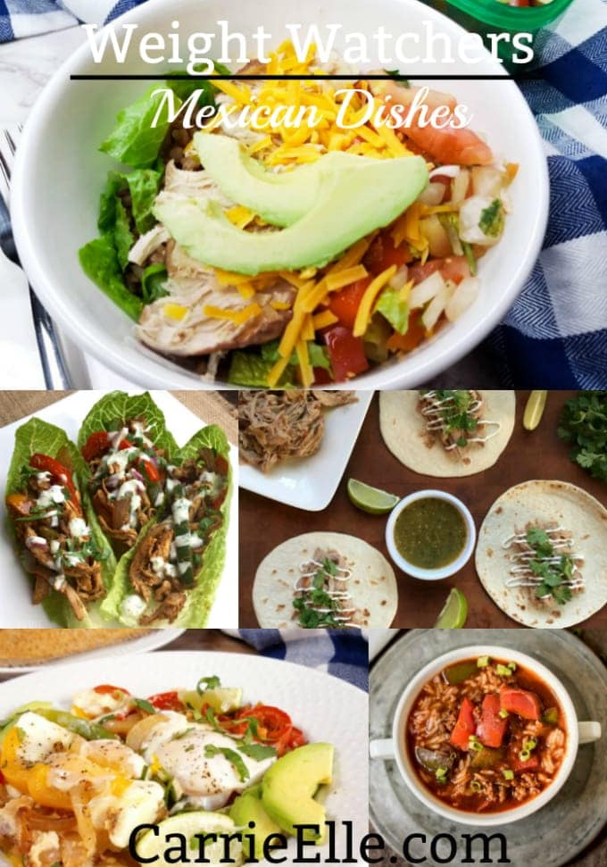 Photos of burrito bowl, fajita lettuce wraps, tacos, and chili