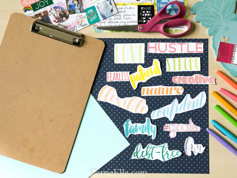 Printable Vision Board Words