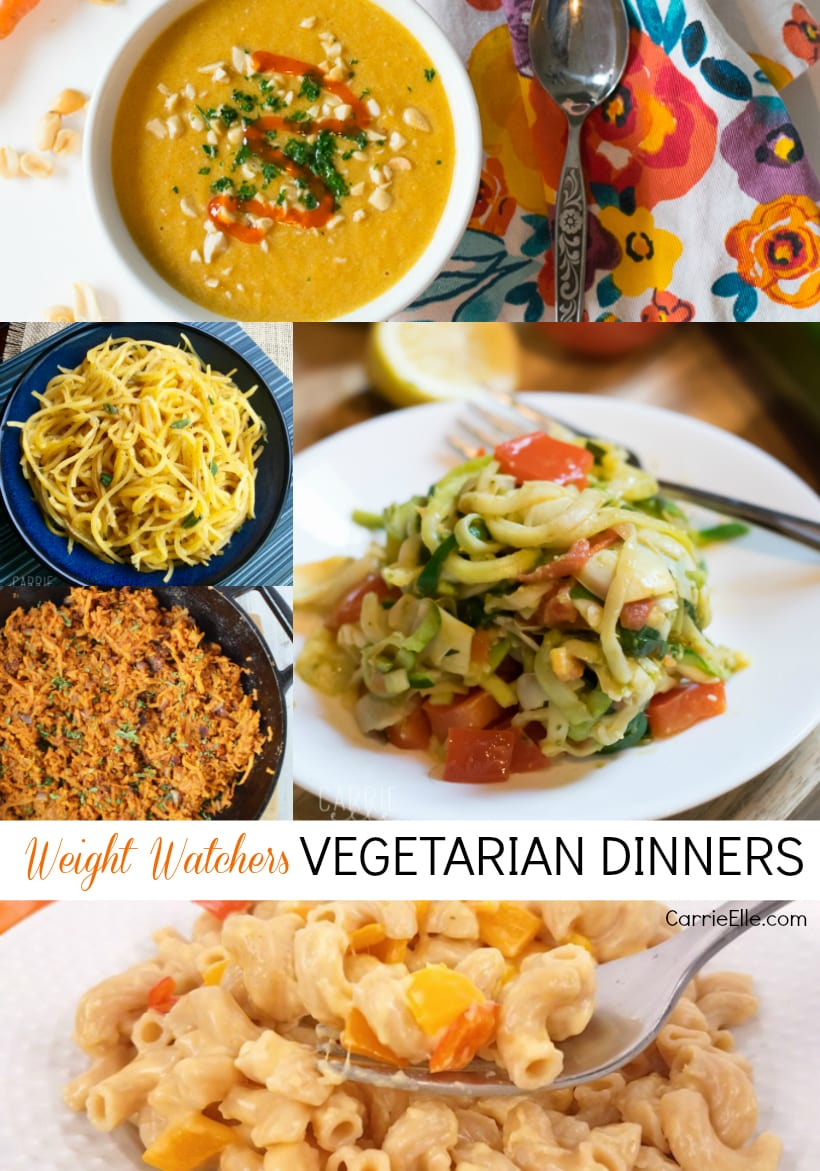 Weight Watchers Vegetarian Dinners