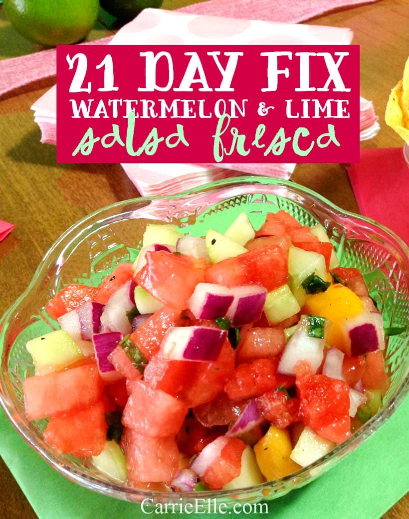 21 Day Fix Watermelon Salsa