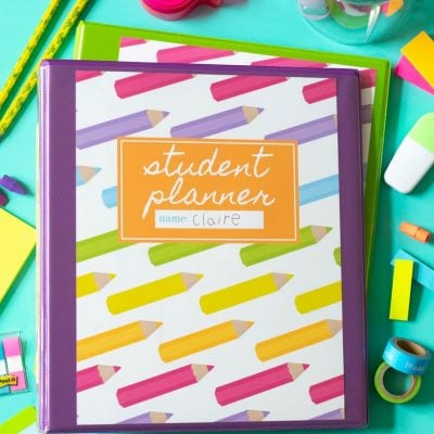 Printable Student Planner for Elementary & Middle School Students