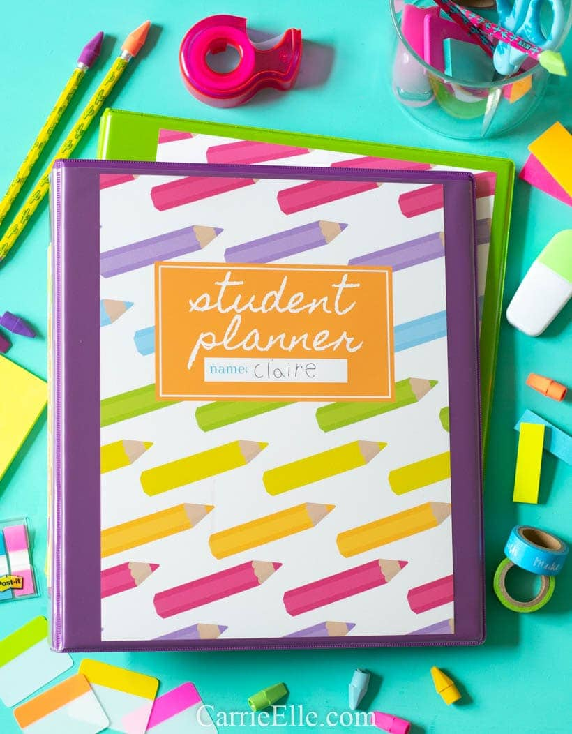 graphic relating to Student Planner Printable known as Printable Scholar Planner for Fundamental Heart University