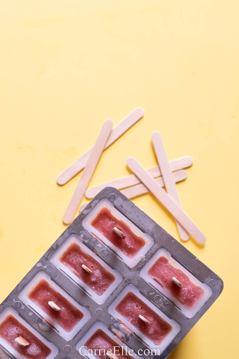 21 Day Fix Strawberry Banana Popsicles