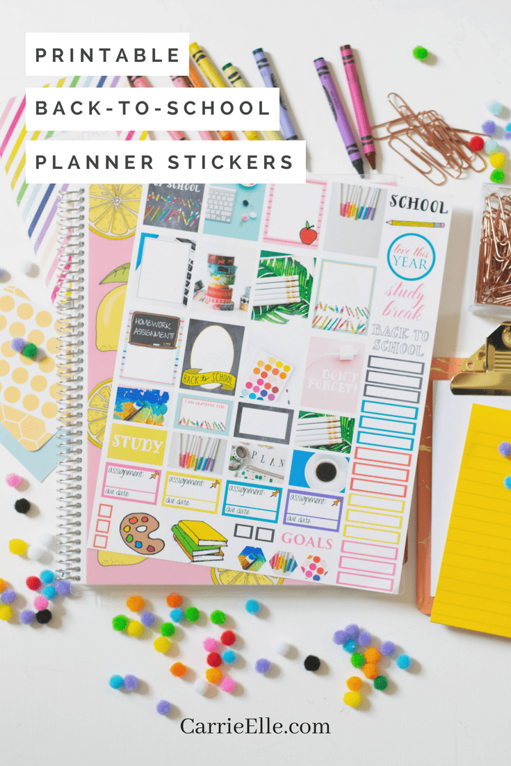 Printable Back to School Planner Stickers
