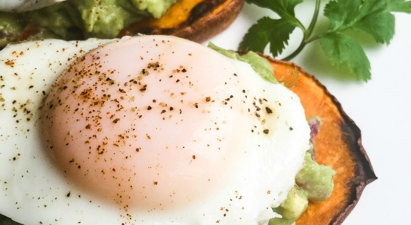 21 Day Fix Sweet Potato Toast with Avocado and Egg