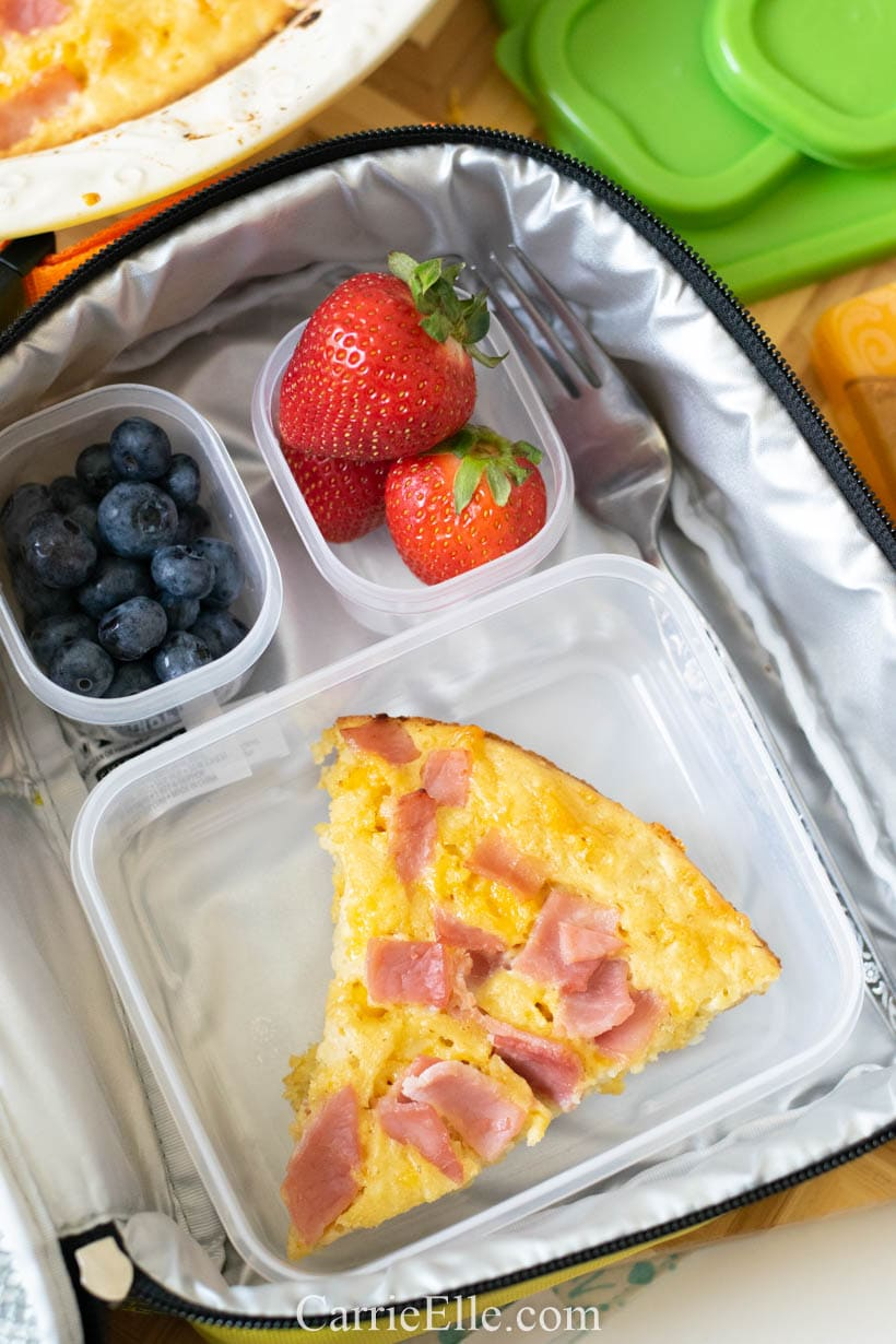 21 Day Fix ham and cheese breakfast quiche