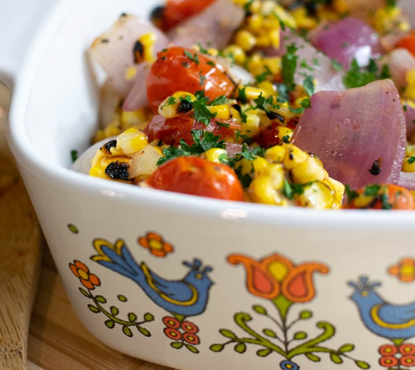 Grilled Corn Veggie Salad
