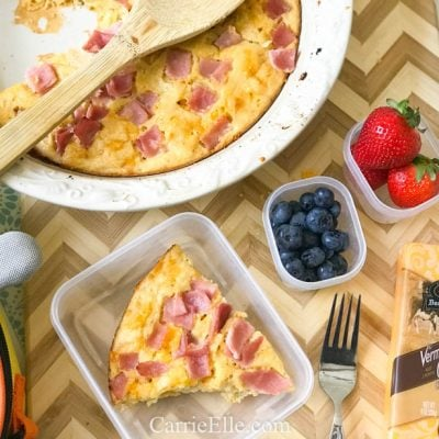 21 Day Fix Make-Ahead Ham & Cheese Breakfast Quiche