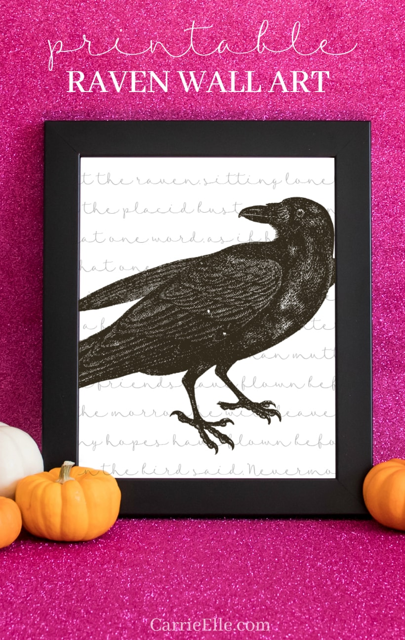Printable Raven Wall Art