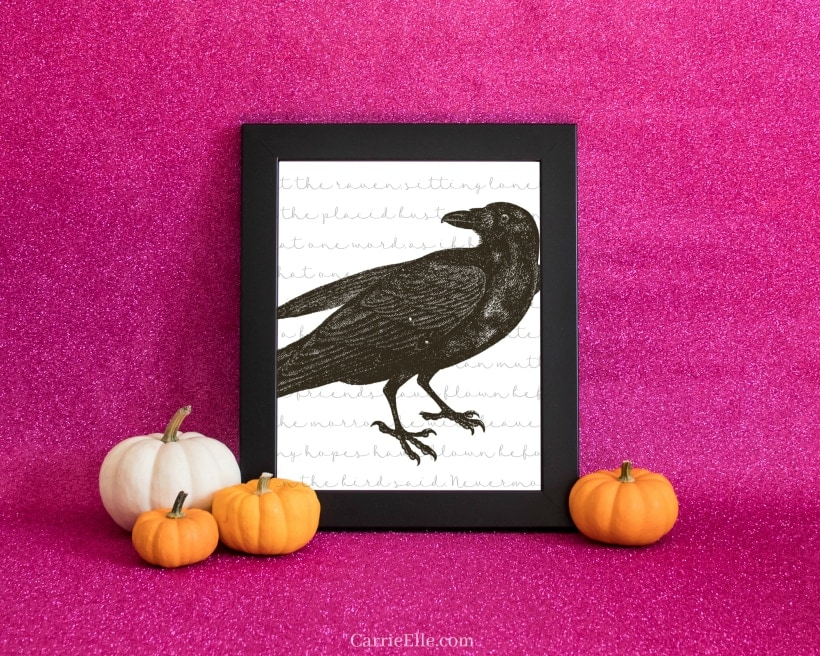 Raven Printable Halloween