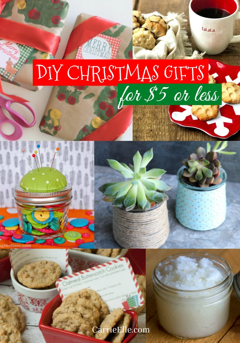 $5 DIY Christmas Gifts - Carrie Elle