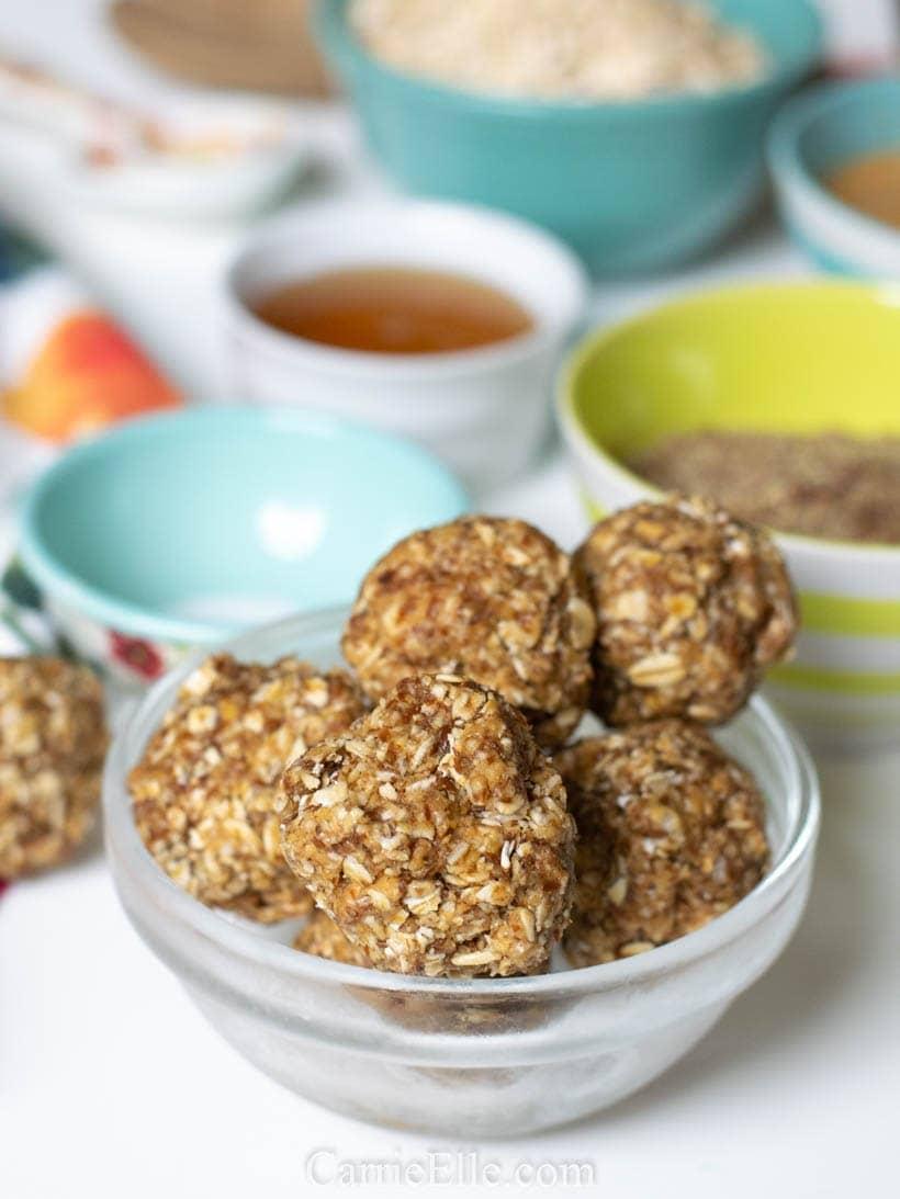 Peanut Butter, Honey, and Cinnamon Energy Balls