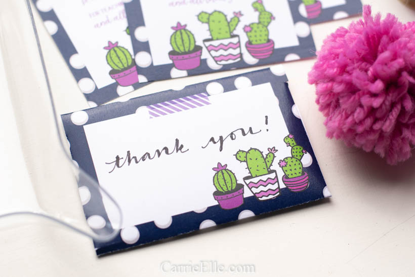Printable Gift Card Envelope Cactus