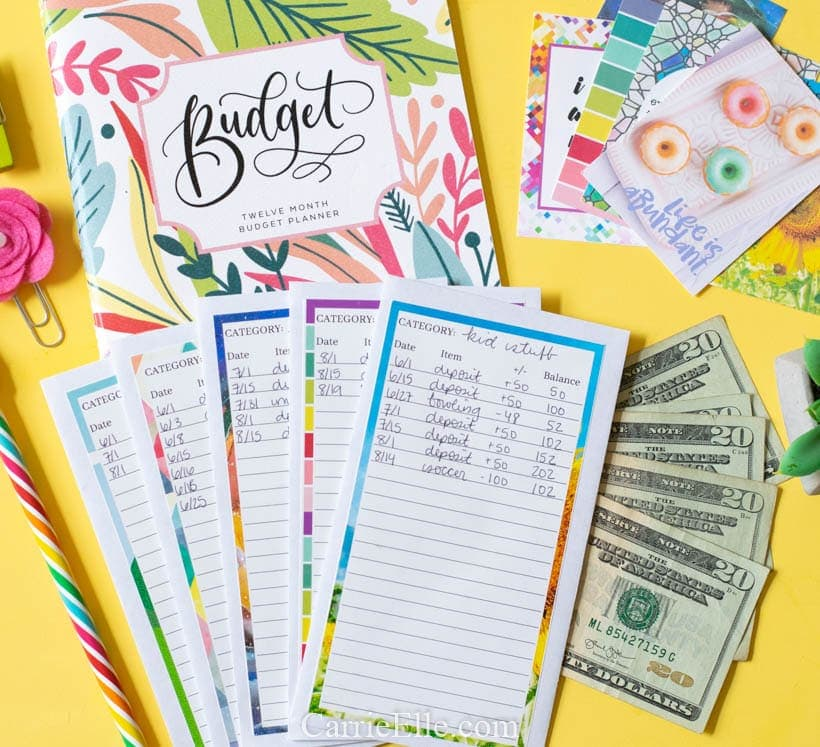 image regarding Printable Cash Envelopes referred to as Printable Do-it-yourself Money Envelope Method - Carrie Elle