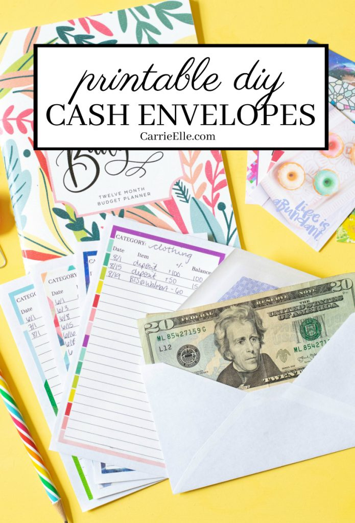 graphic regarding Printable Cash Envelopes named Printable Do-it-yourself Revenue Envelope Method - Carrie Elle