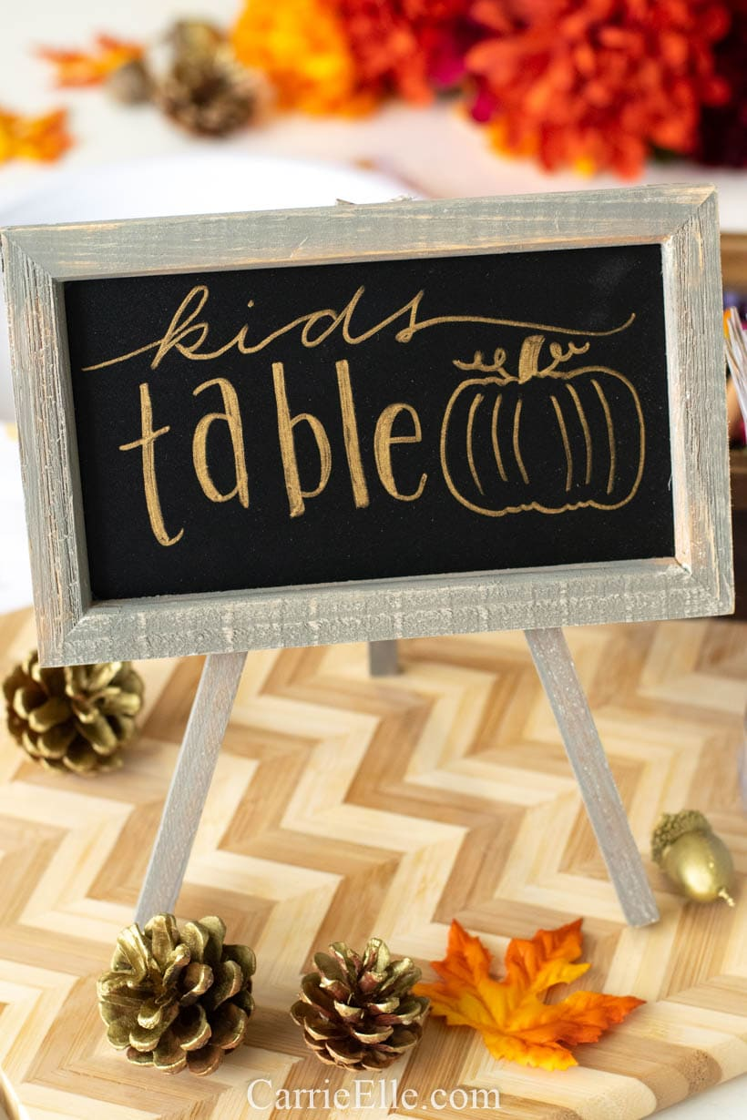 Thanksgiving Printable Table Setting Kids