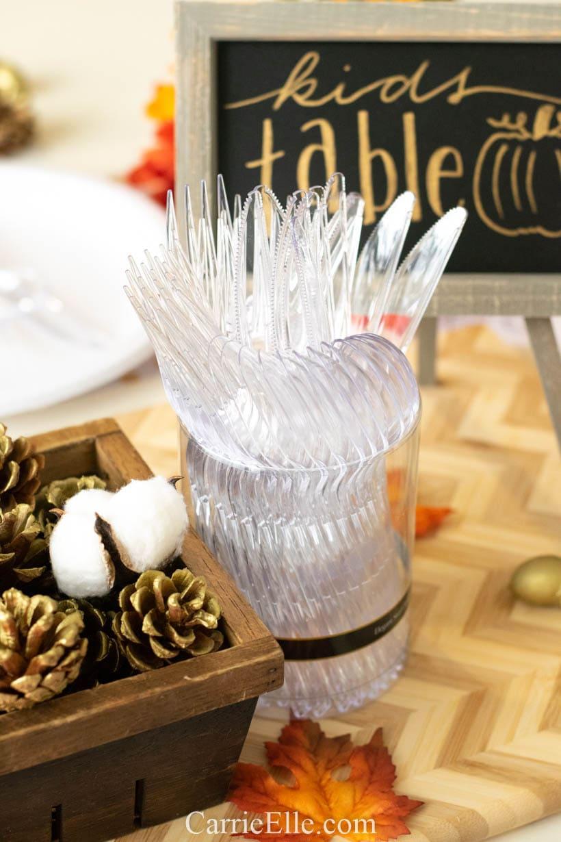 Printable Thanksgiving Table Setting for Kids