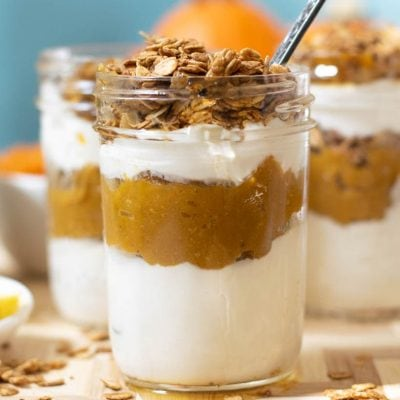 21 Day Fix Pumpkin Pie Yogurt Parfait with Maple Oats