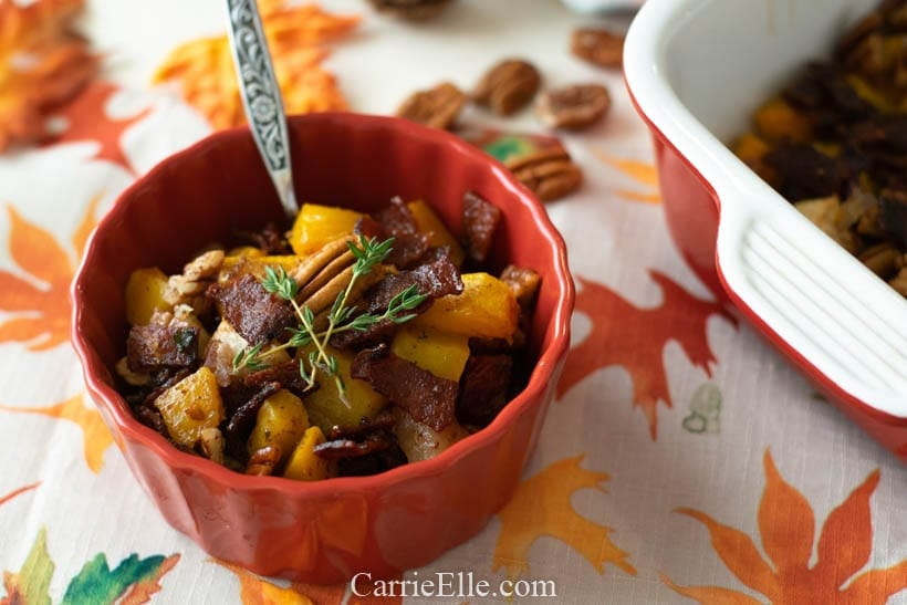 Apple Butternut Squash Bacon Casserole