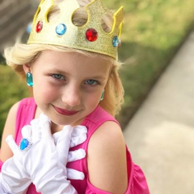 DIY Princess Peach Costume for Kids