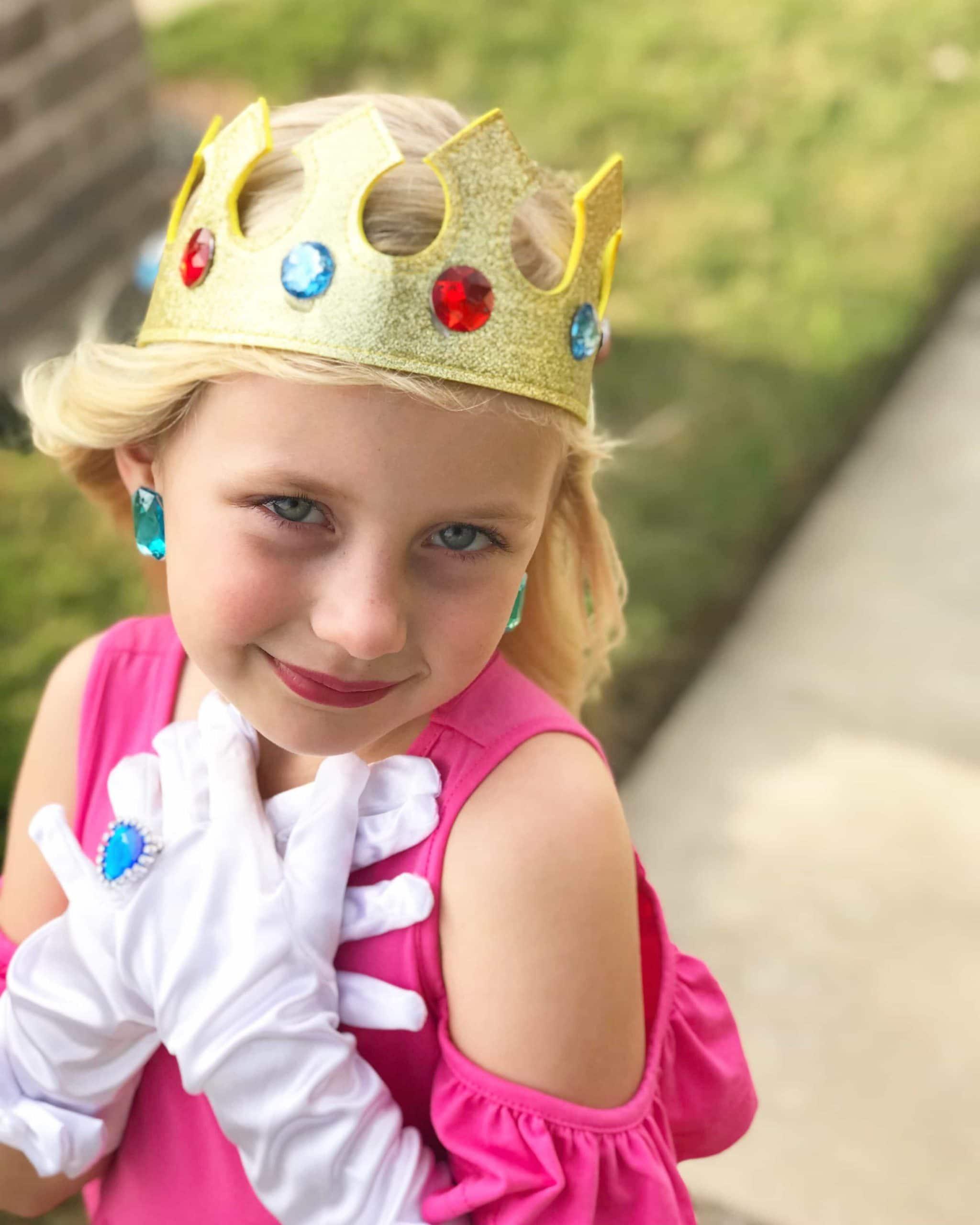 Diy Princess Peach Costume For Kids Carrie Elle