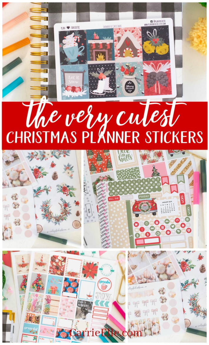 Chrismas Planner Stickers