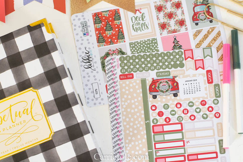 Libbieandco Christmas Planner Stickers