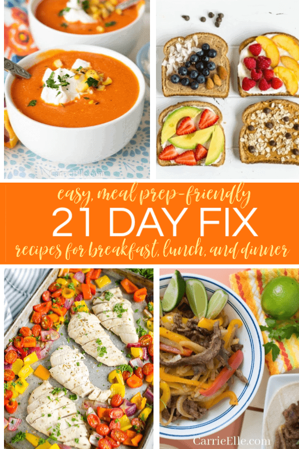 Easy 21 Day Fix Portion Fix Recipes
