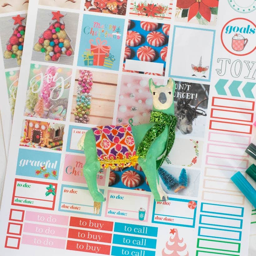 Printable Christmas Planner Stickers