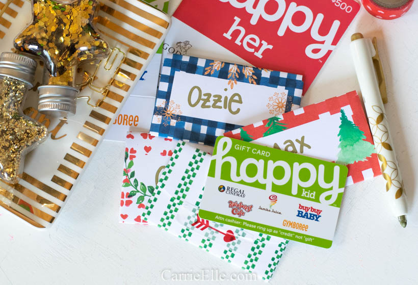 Printable Christmas Gift Card Envelopes