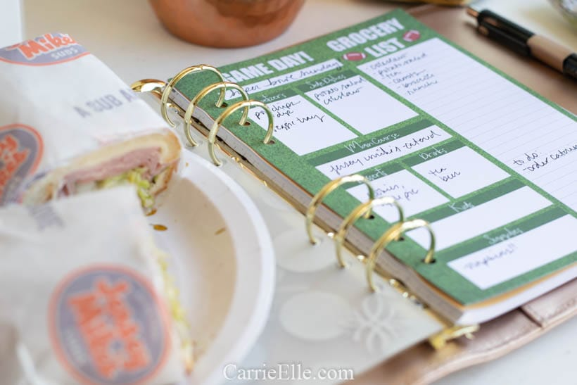 Printable Football Party Planner A5