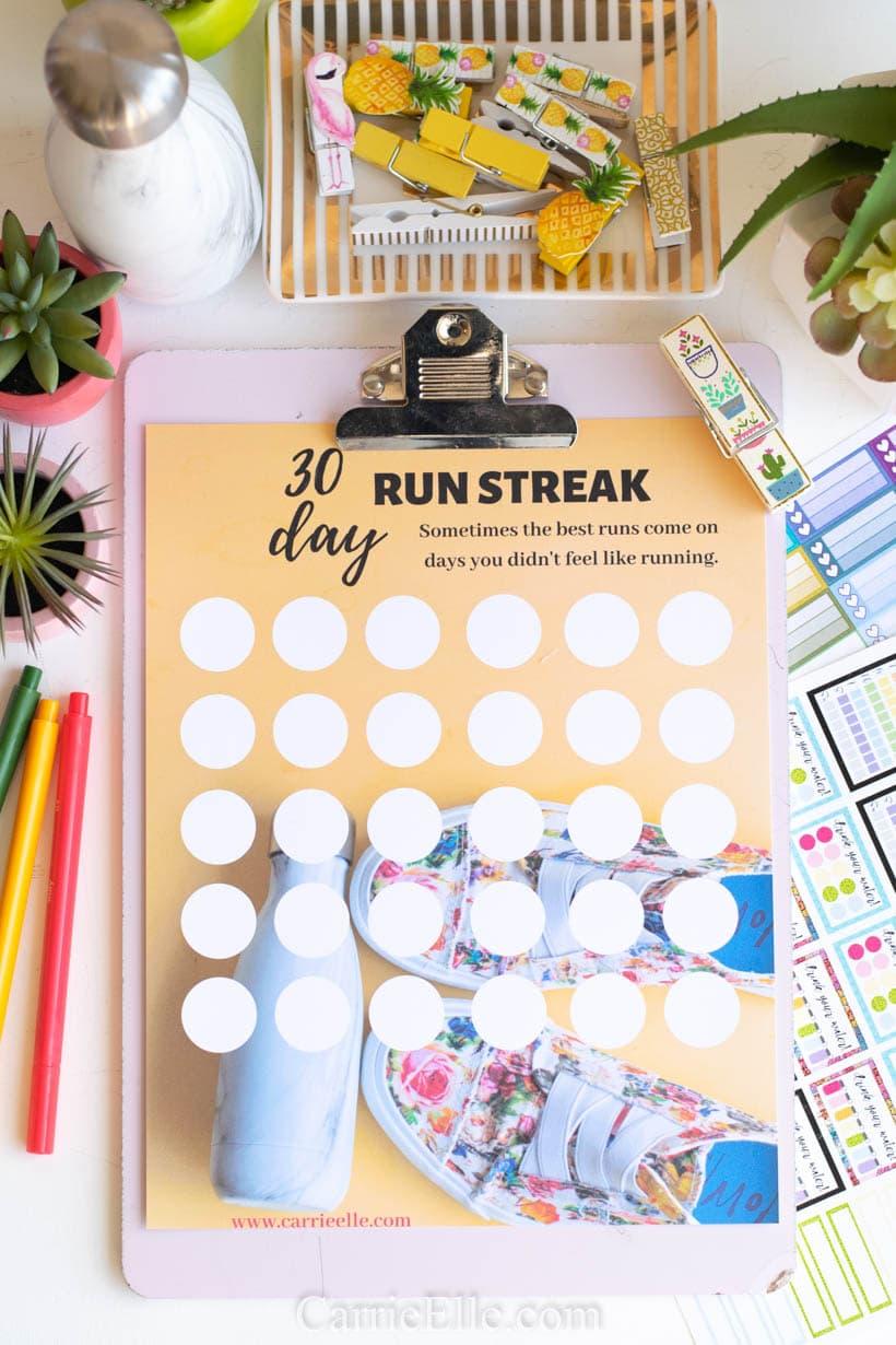 Run Streak Printable 8.5x11