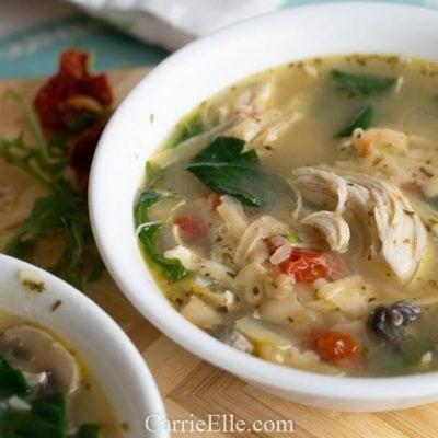 Healthy Instant Pot Chicken Florentine Soup