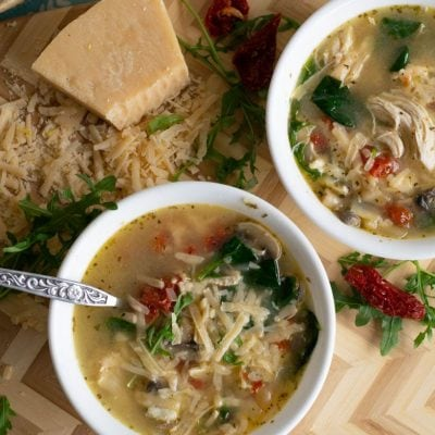 Healthy Instant Pot Chicken Florentine Soup (21 Day Fix, Weight Watchers)