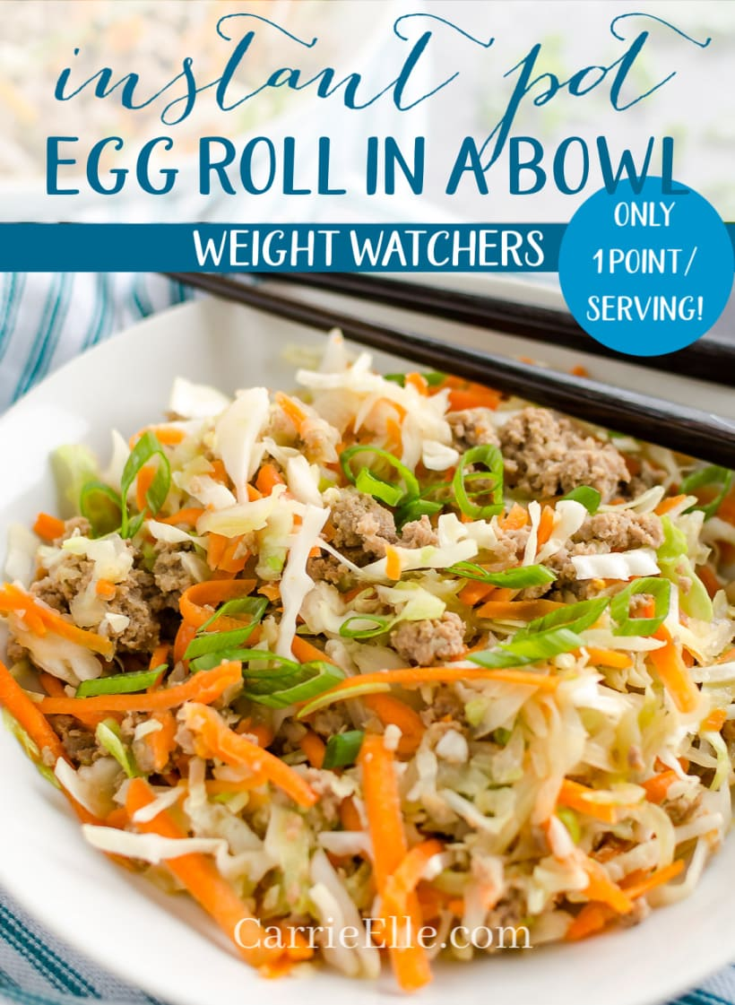 Egg Roll in a Bowl Weight Watchers Instant Pot 1 Point