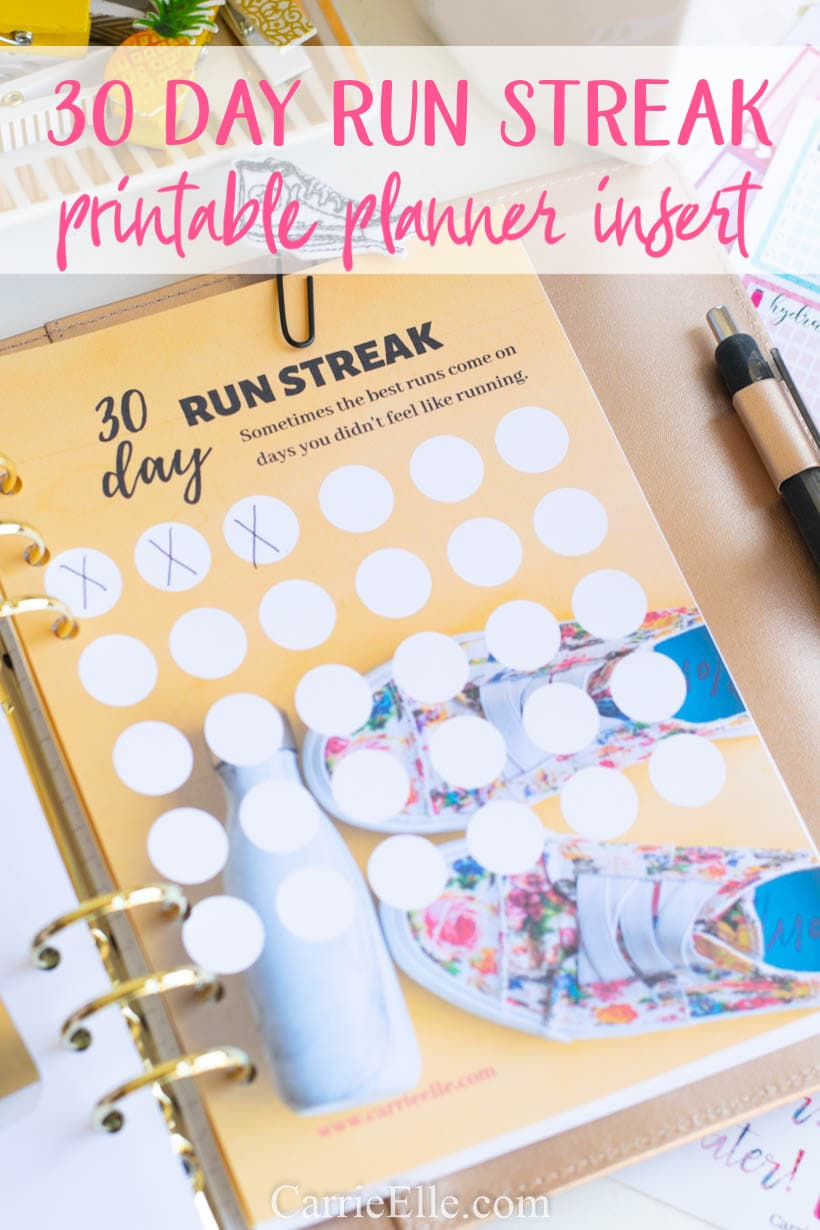 photograph about A5 Planner Printable known as 30 Working day Operate Streak Printable (8.5x11 and A5 Planner Increase