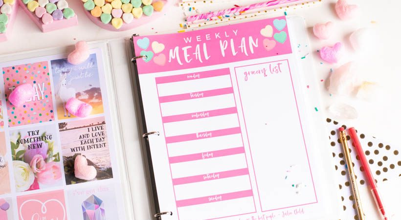 Printable Weekly Meal Planner for February