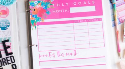 Goals Tracker Printable Carrie Elle