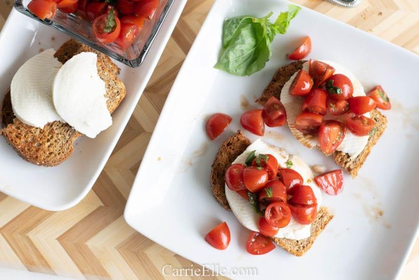 Healthy Bruschetta Toast 21 Day Fix
