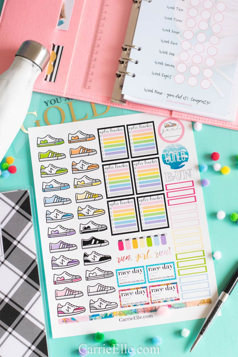 Printable Running Planner Stickers