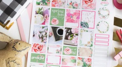 Printable Spring planner Stickers