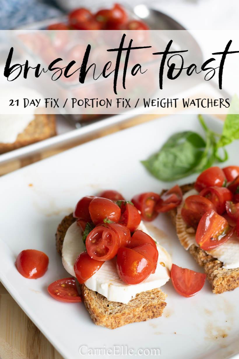 Healthy Bruschetta Toast